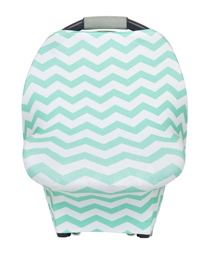 Multipurpose Cover Mint & White Chevron