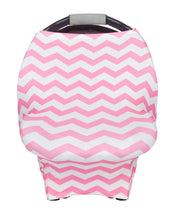 Multipurpose Cover Pink & White Chevron