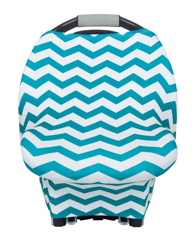 Multipurpose Cover Teal & White Chevron