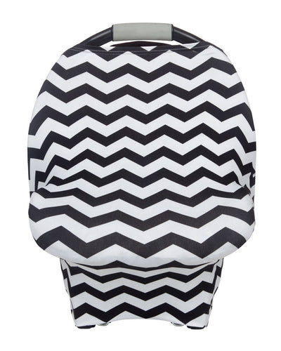 Multipurpose Cover Black & White Chevron