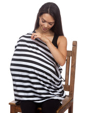 Multipurpose Cover Black & White Striped