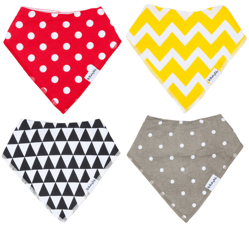 Bandana Bib Set Red & Yellow