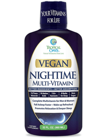 Vegan Multivitamin for Sleep 120+ Nutrients, 74 Trace Minerals, 18 Amino Acids, 8 Herbs for Sleep, & Anti-Aging