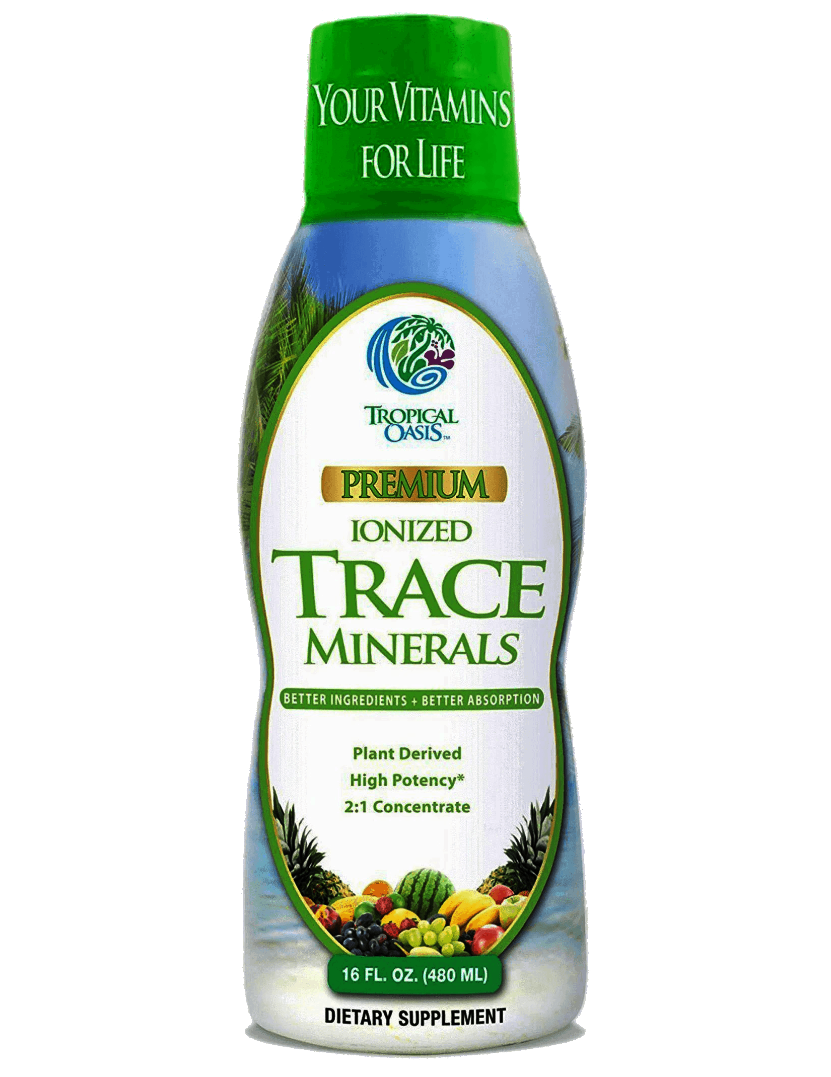 Premium Plant Based Trace Minerals - 74 Natural Organic Ionized Trace Minerals