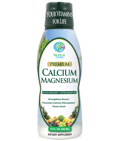 Premium Liquid Calcium Magnesium Citrate - Natural formula with Support for Strong Bones