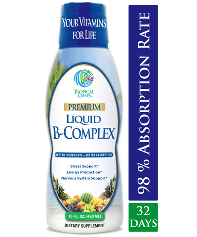 Tropical Oasis Premium Liquid B-Complex - 16 oz, 32 servings