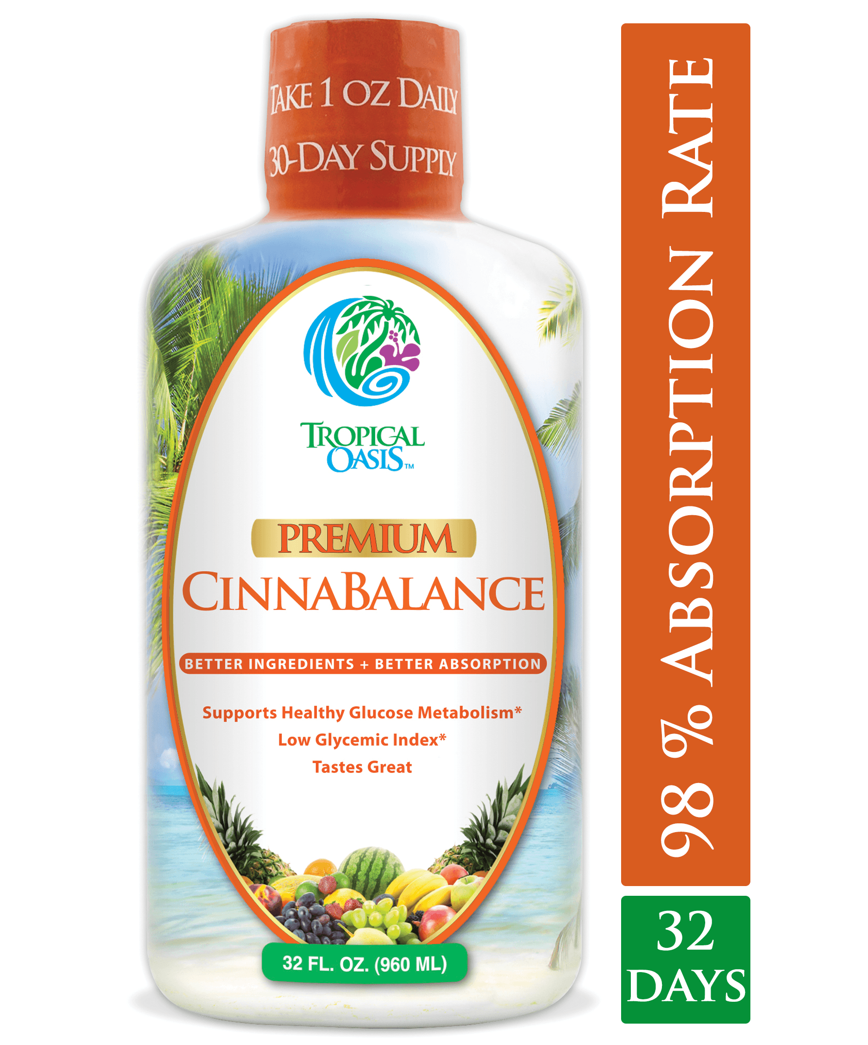 Cinnabalance – Liquid Cinnamon Supplement -32oz - tropical-oasis-store