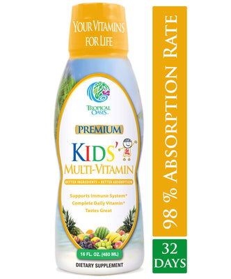 Kids Liquid Multivitamin Supplement -16oz - tropical-oasis-store