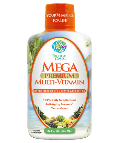 Mega Premium Liquid Multivitamin and Mineral Supplement - 32oz, 32serv