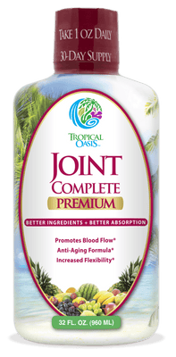 Joint Complete Premium - Liquid Joint Supplement for Bone & Joint Health with Liquid Glucosamine Sulfate, Chondroitin, MSM & Hyaluronic Acid - 96% Max Absorption– 32oz, 32 serv