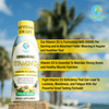 Tropical Oasis Liquid Vitamin D3 - 5000 IU per serv – Promotes strong bones & healthy muscle function. PLUS natural mood booster– Liquid D3 supplement for Maximum 96% Absorption Rate- 16 oz - 32 Serv