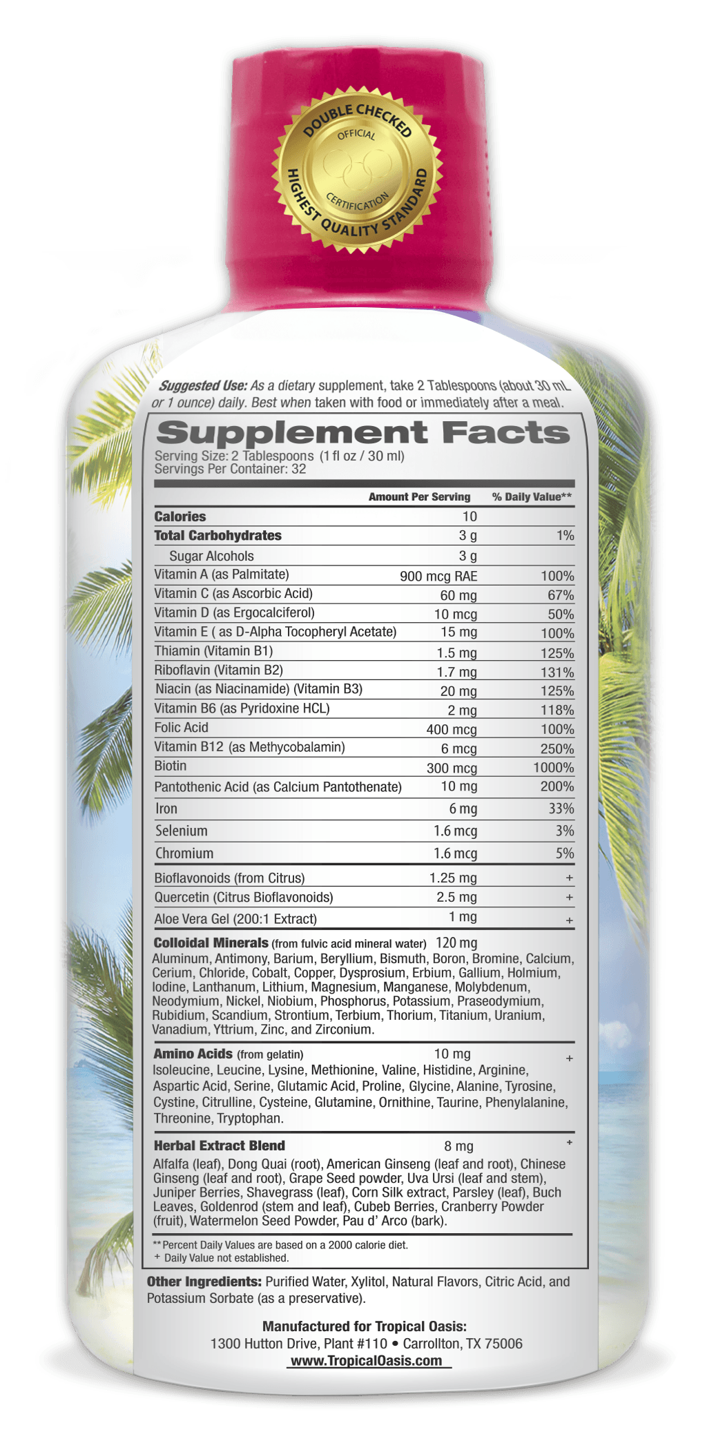 Women's Premium Liquid Multivitamin, Superfood, & Herbal Blend -- 32 fl oz, 32 serv.