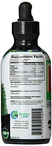 Tropical Oasis Sublingual Vitamin B12 Liquid Drops - Strawberry Flavor - 4 oz - tropical-oasis-store