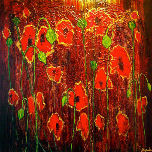 Poppies in the Blood - Alexandra Hunter Art