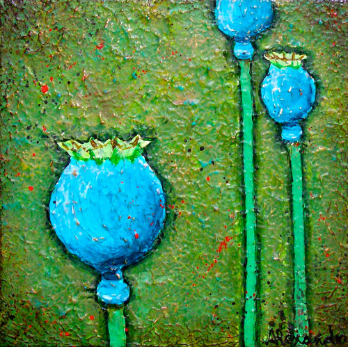Poppypod Trio - Alexandra Hunter Art