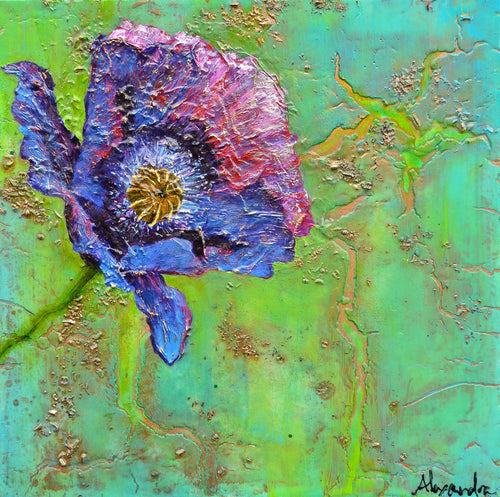 Purple Poppyheart - Alexandra Hunter Art
