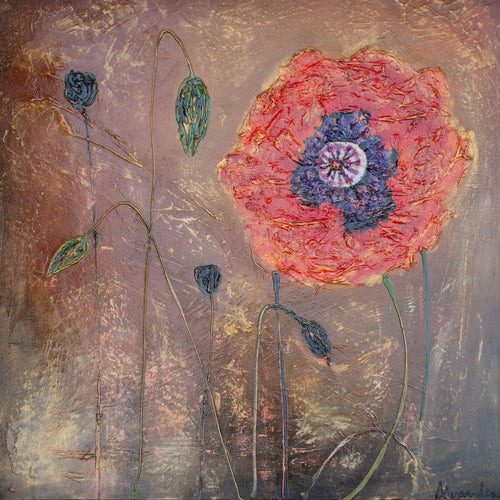 Nicole's Poppy - Alexandra Hunter Art