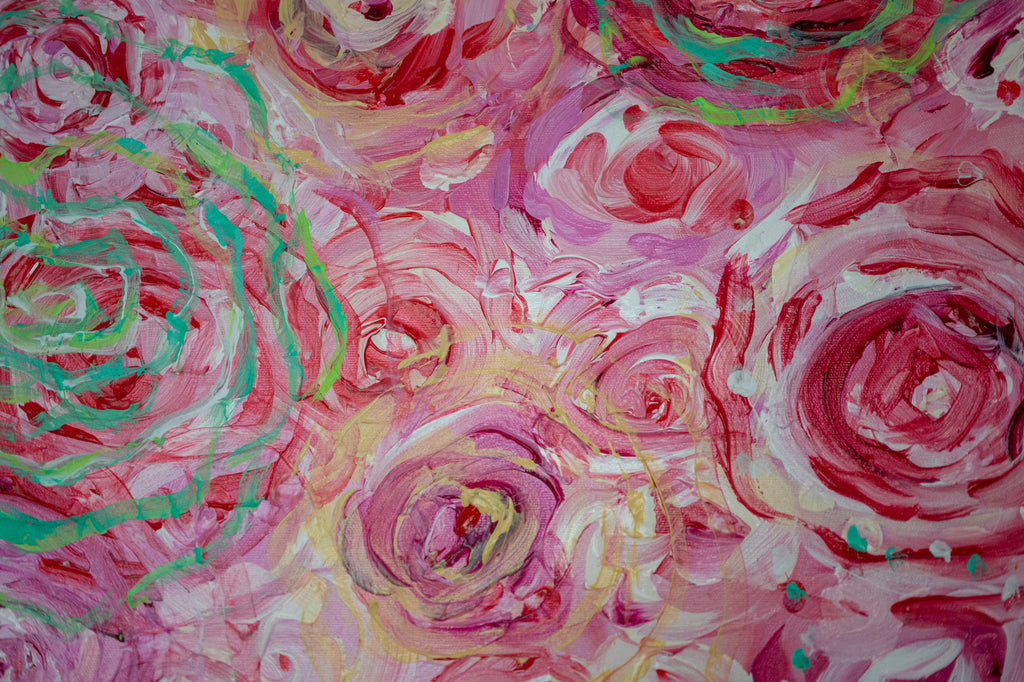 everything's coming up roses (green) detail