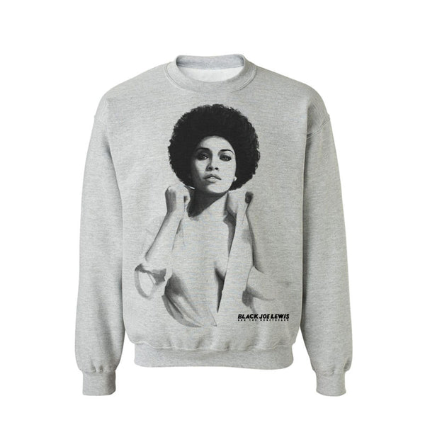 BLACK JOE LEWIS GREY LADY CREWNECK SWEATSHIRT