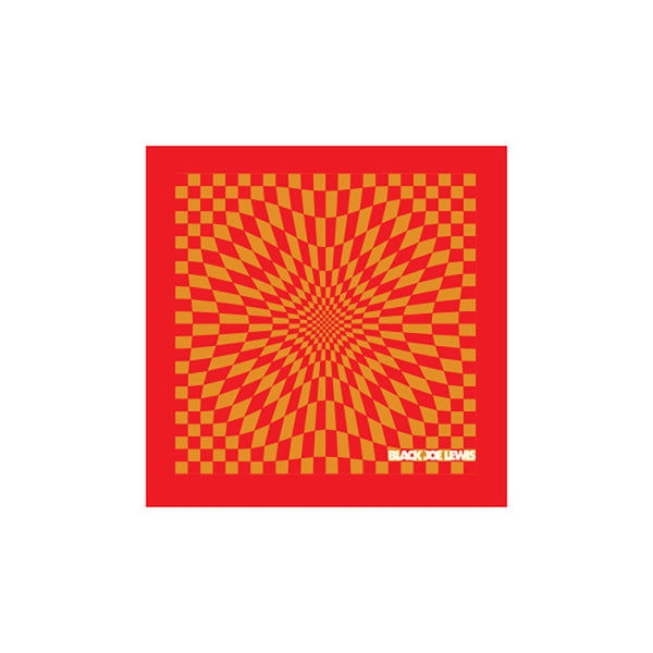 BLACK JOE LEWIS KALEIDOSCOPE RED BANDANA