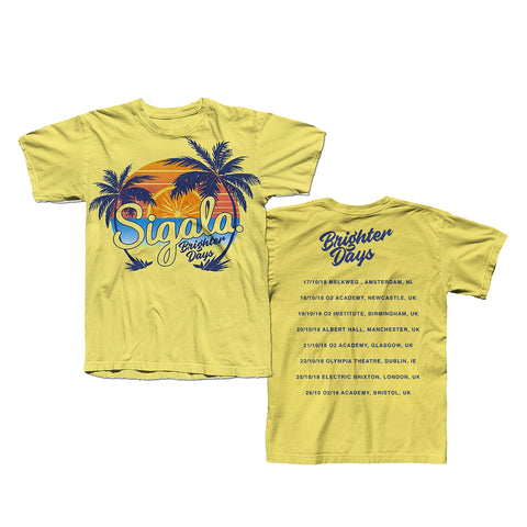 YELLOW PALM TREE TOUR T-SHIRT