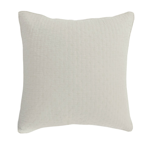 Cross Stitch Cream Euro Sham Set