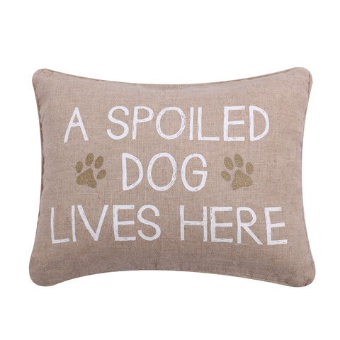 Spoiled Dog Pillow