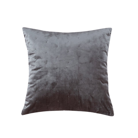 Alden Coral Gray Velvet Pillow