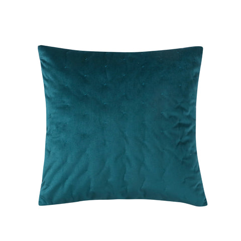 Alden Coral Peacock Teal Velvet Pillow