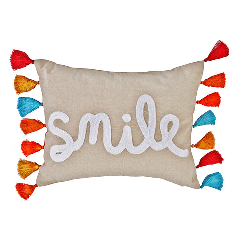 Amelie Smile with Tassels Pillow