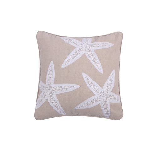 Applique Starfish Pillow