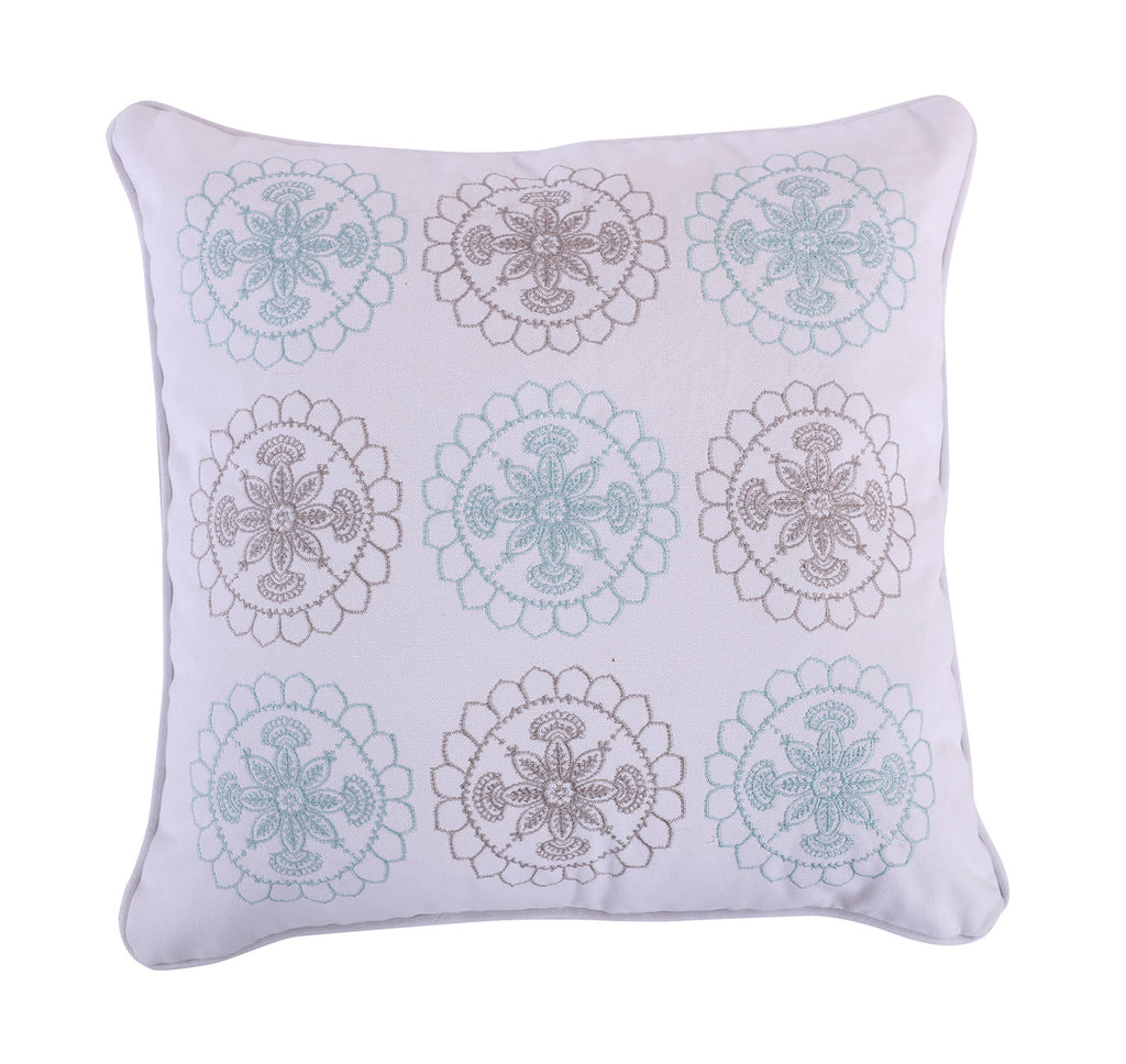 Spruce Spa Embroidered Pillow