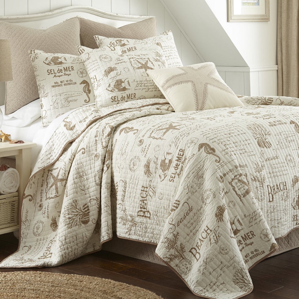 Beach Life Taupe Quilt Set