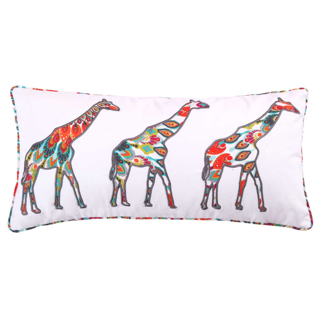 Mirage Appliqued Giraffes Pillow