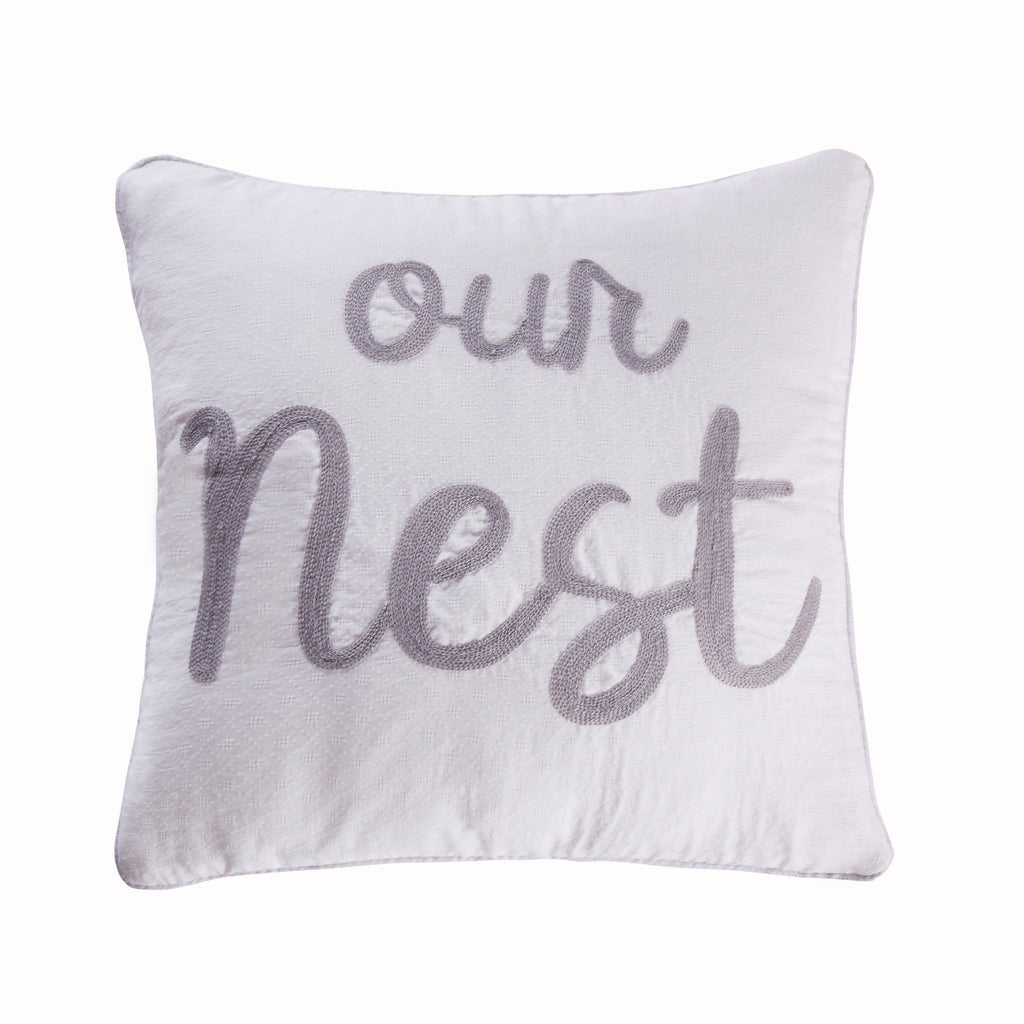 Bondi Stripe Grey Our Nest Pillow