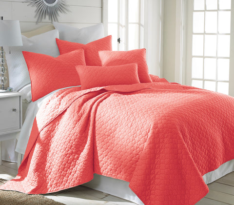 Bordeaux Salmon Quilt Set