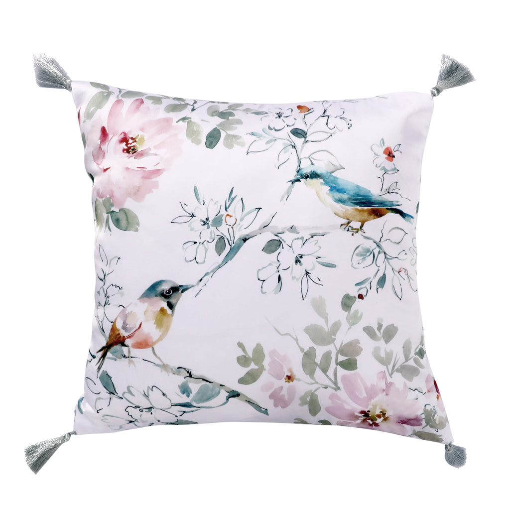 Brixton Grey Bird Tassel Pillow