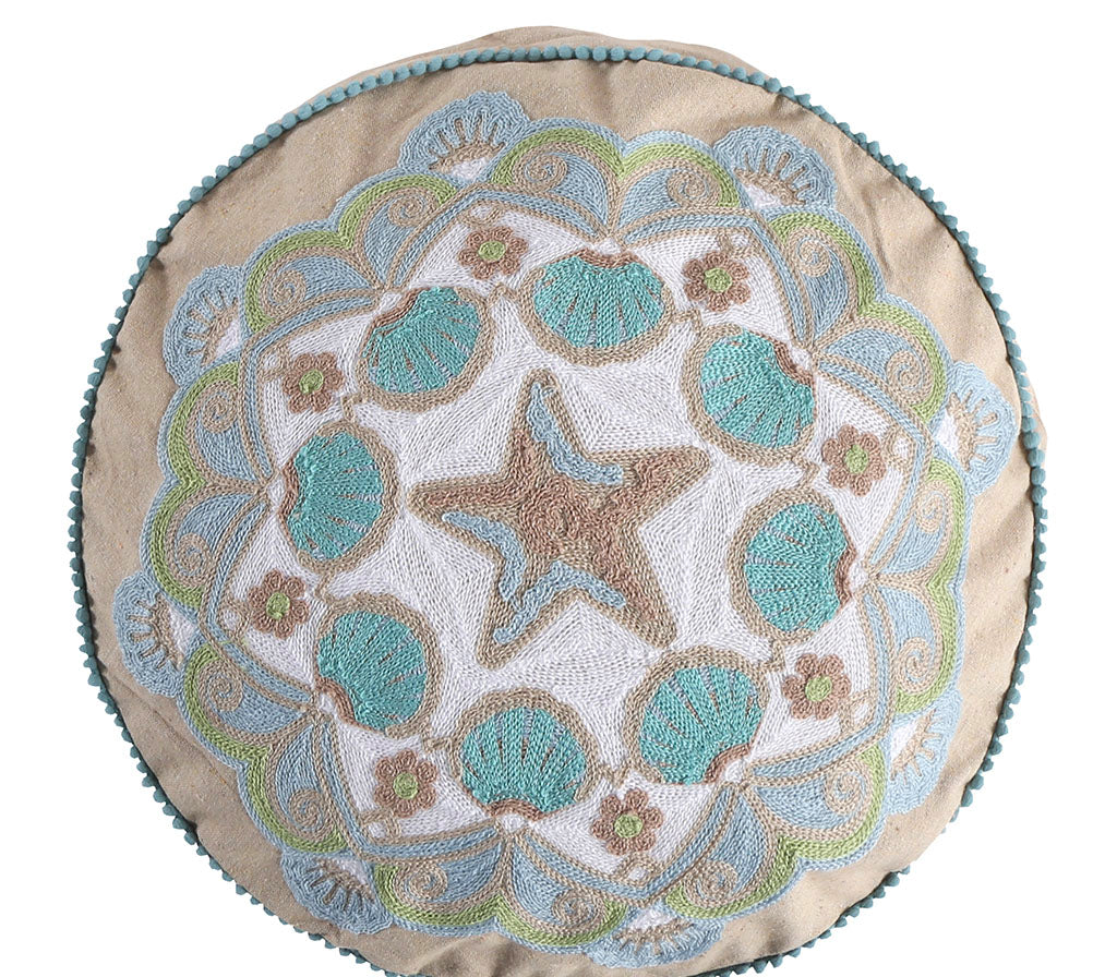 Calafel Round Pillow