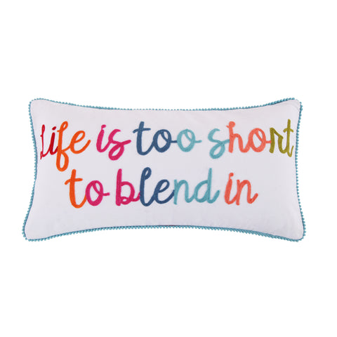 Jules Life Too Short Pom Pillow