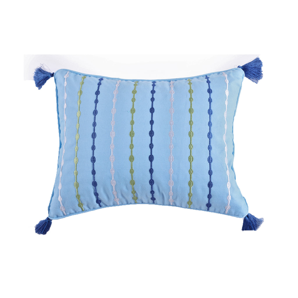 Catalina Embroidered Tassel Pillow