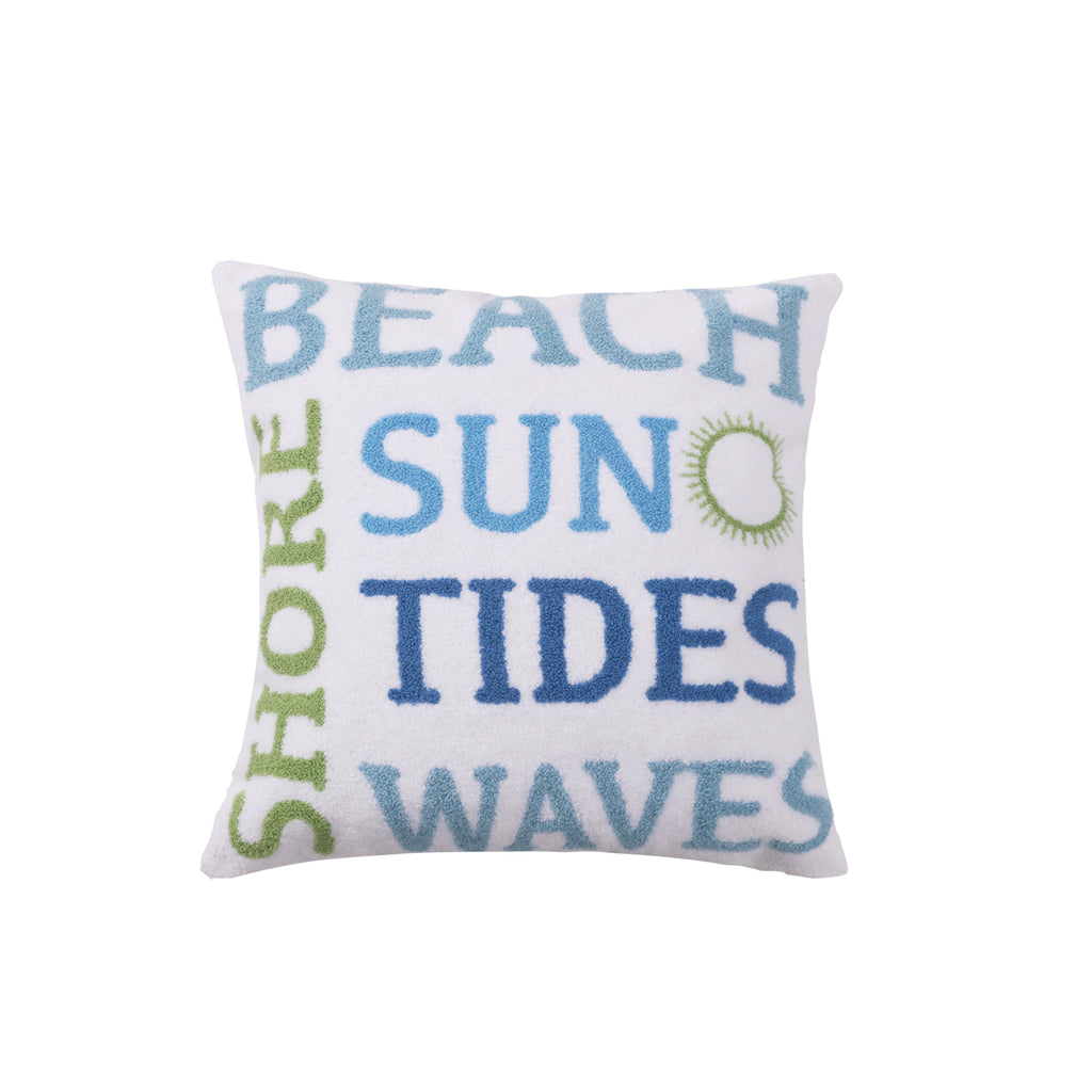 Catalina Beach Tides Shore Terried Towel Pillow