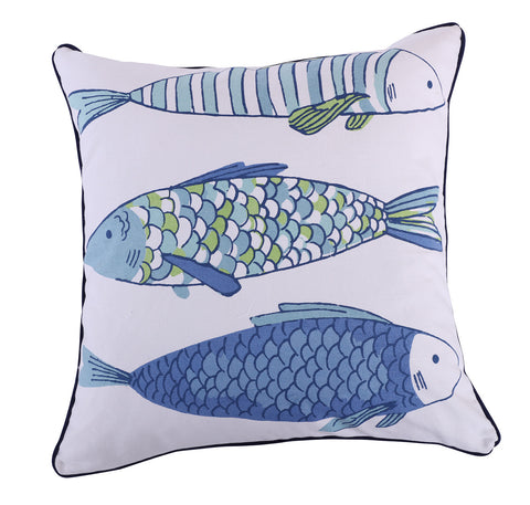 Catalina Fish Printed Fish pillow