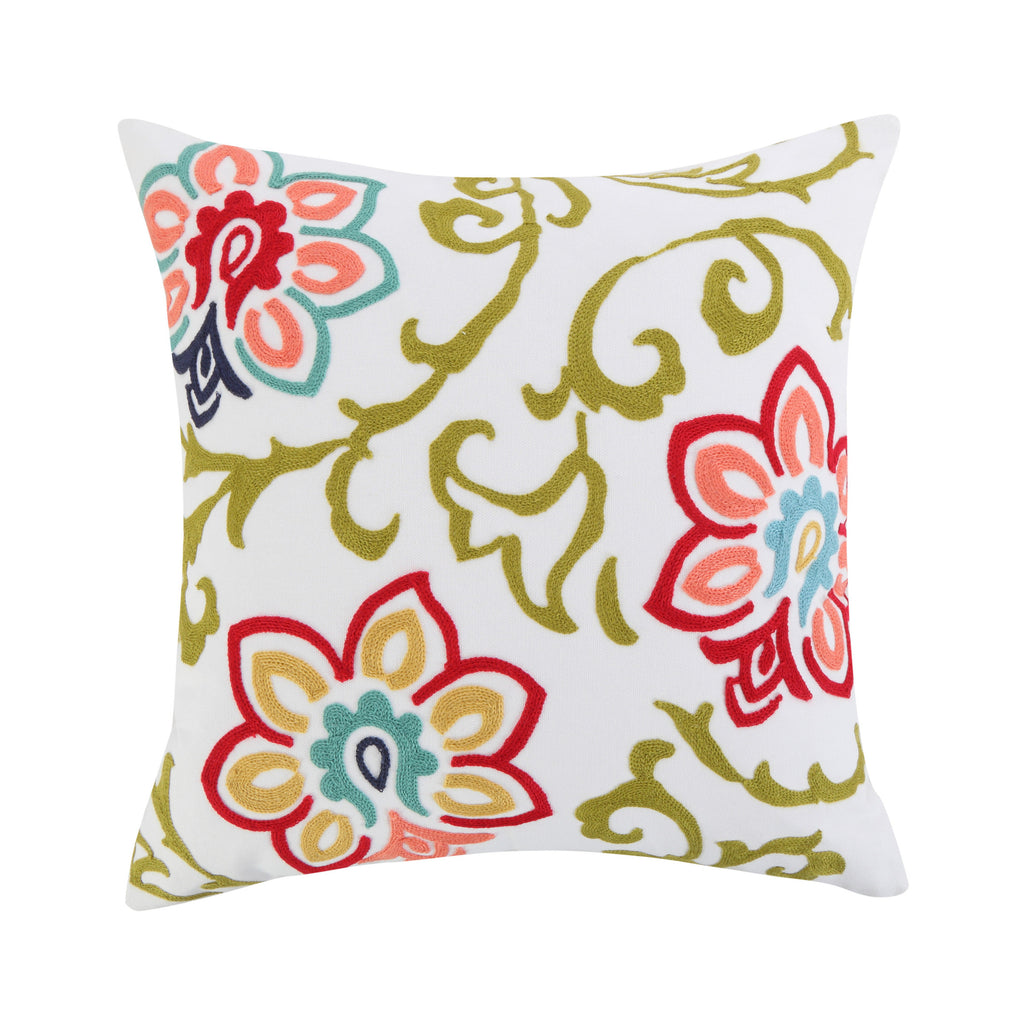 Clementine Spring Floral Pillow
