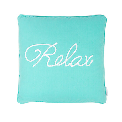 Cozumel Teal Relax rope pillow