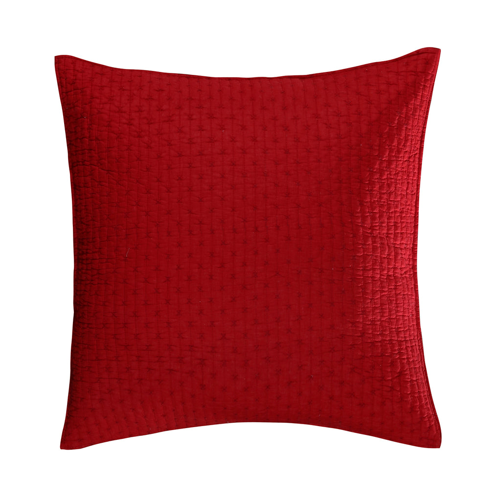 Cross Stitch Chile Red Euro Sham Set of 2