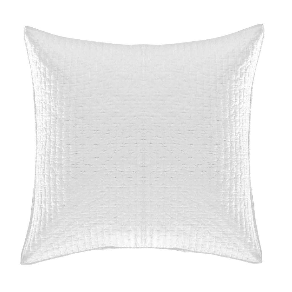 Cross Stitch Bright White Euro Sham Set of 2