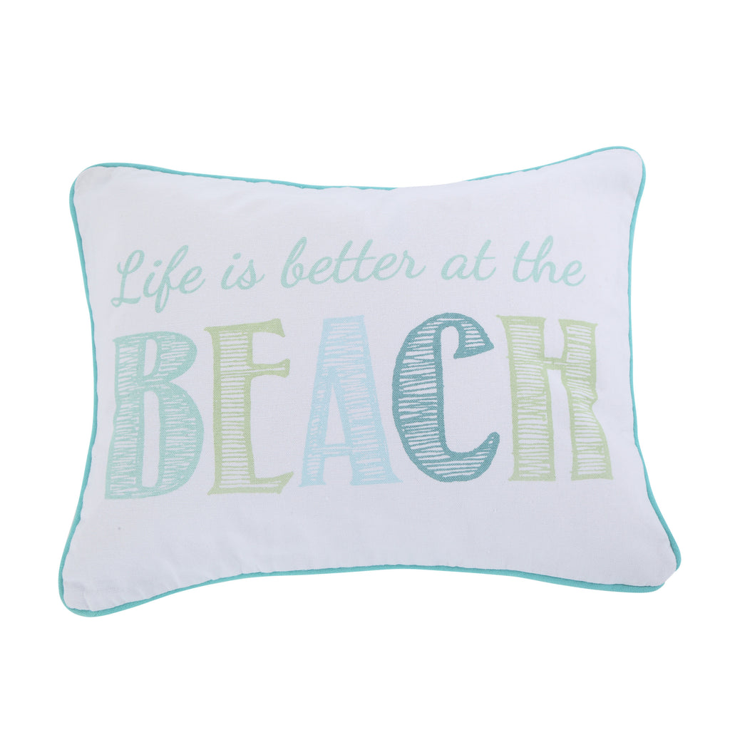Del Ray Embroidered Life is Better Pillow