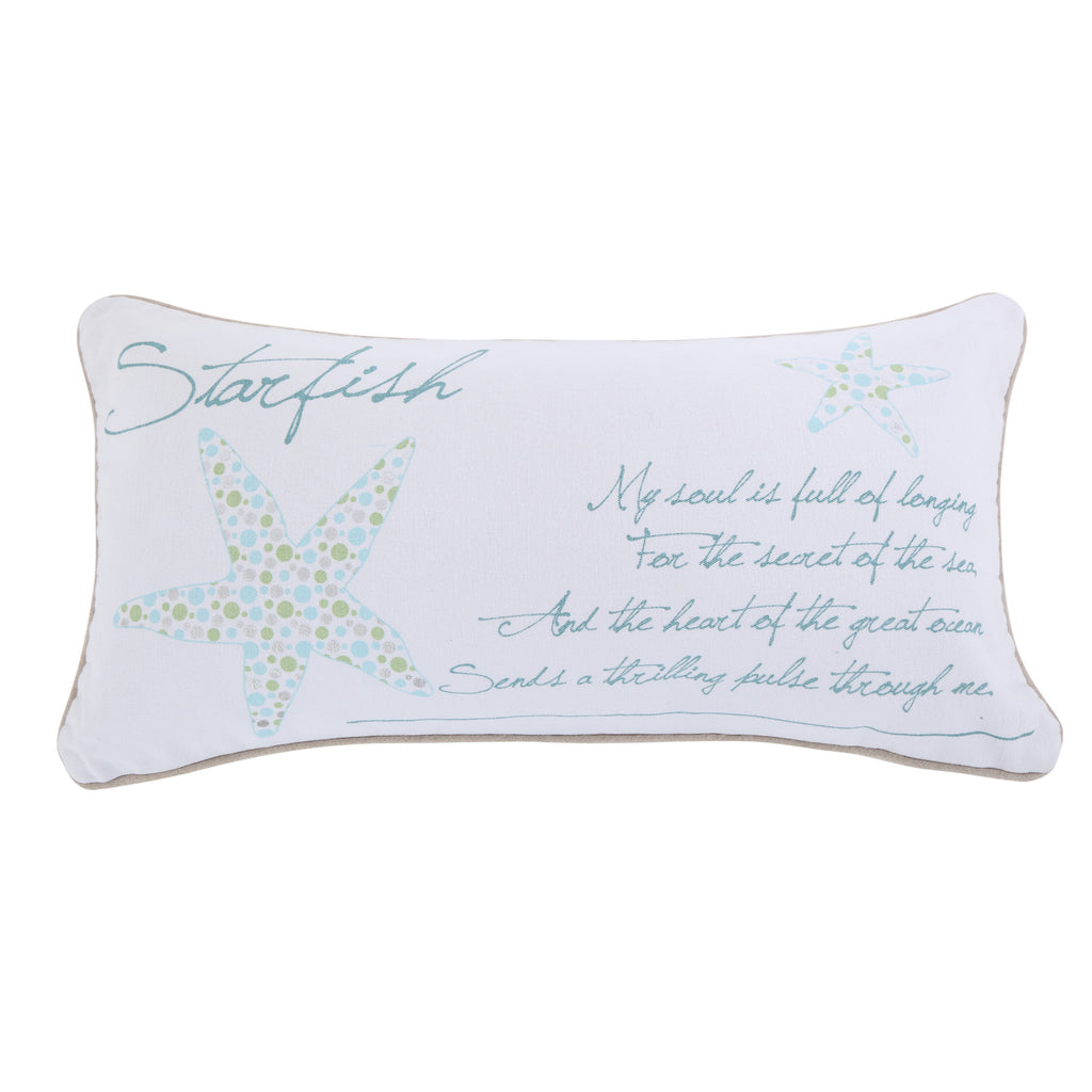 Del Ray Starfish Metallic Pillow