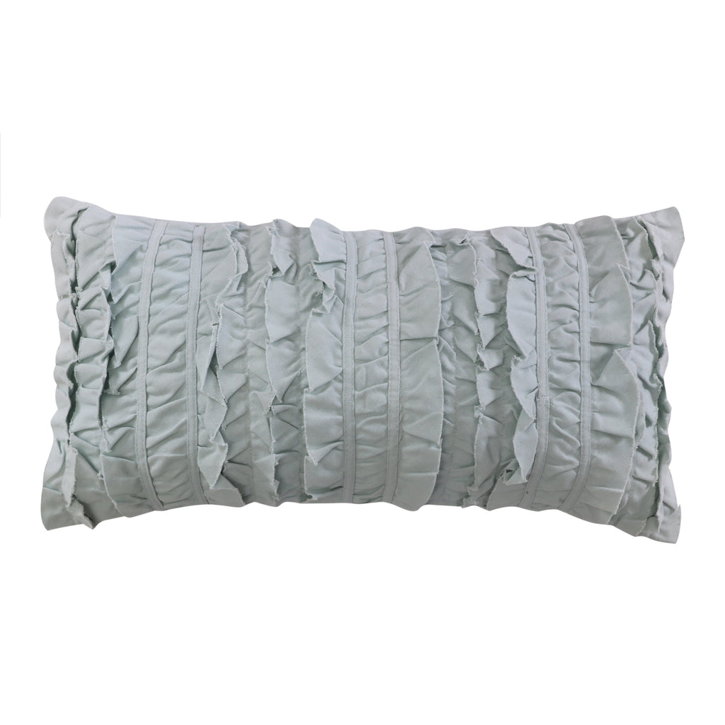 Ditsy Spa Ruched Pillow