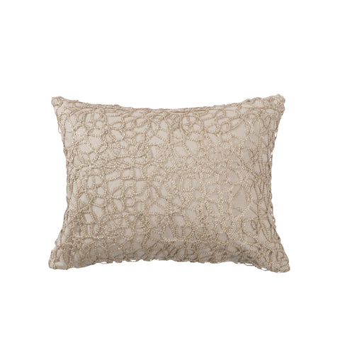 Ditsy Gold Overlay on Burlap Pillow